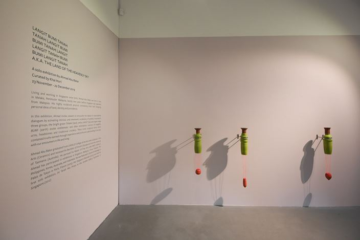 Work-in-progress, Ahmad Abu Bakar. Courtesy the artist and Chan + Hori Contemporary, Singapore.