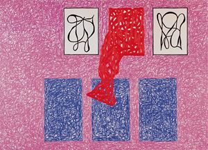 Some Share Eternity by Jonathan Lasker contemporary artwork
