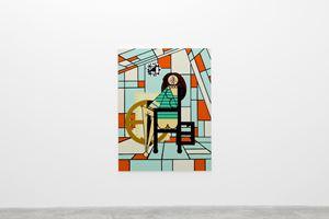 Model in Studio 6 by Farah Atassi contemporary artwork