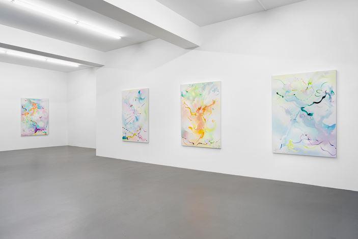Exhibition view: Fiona Rae,Buchmann Galerie, Berlin (27 April–23 June 2018). Courtesy Buchmann Galerie.