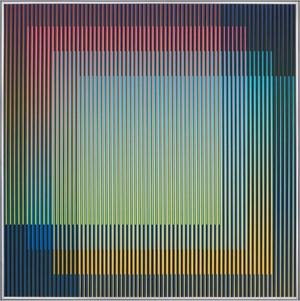 Physichromie 1956 by Carlos Cruz-Diez contemporary artwork