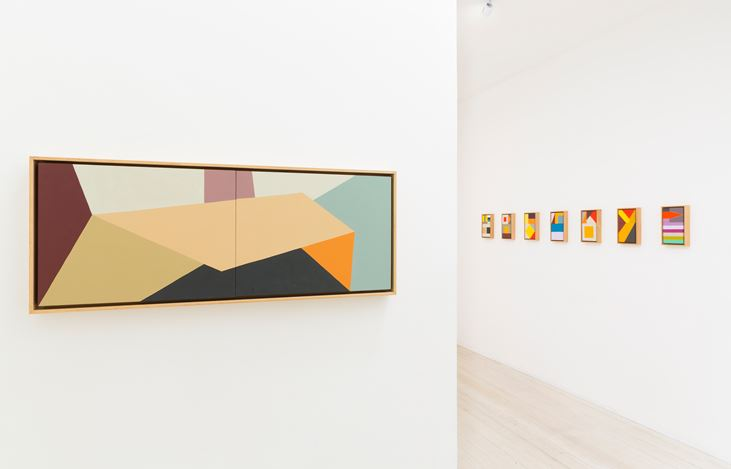 Louise Tuckwell, Paintings & Tapestries, 2016. Exhibition view, Gallery 9, Sydney. Image courtesy the gallery.