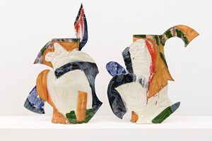 Athena Diptych Vase by Betty Woodman contemporary artwork