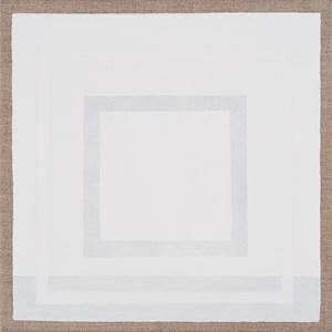 White Square with Border by Danica Firulovic contemporary artwork