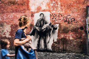 Pasolini assassiné - Si je reviens. Roma by Ernest Pignon-Ernest contemporary artwork