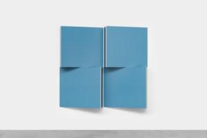 Voir Double - Travaux Situés - Blue Pastel - RAL 5024 by Daniel Buren contemporary artwork