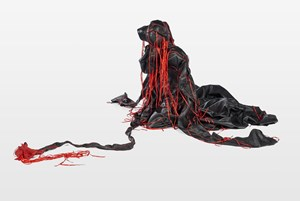 Ndilinde by Nicholas Hlobo contemporary artwork