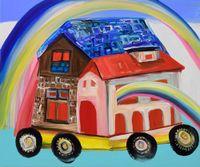 Tomorrow's Rainbows by Aki Kondo contemporary artwork painting