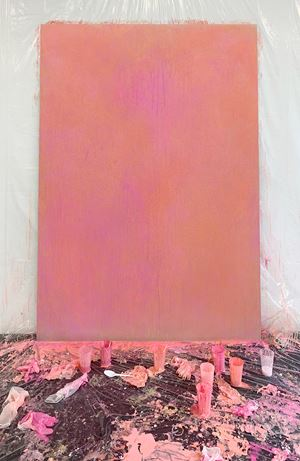 Sexual Power (Viagra Painting, Streaming Tale) by Pamela Rosenkranz contemporary artwork