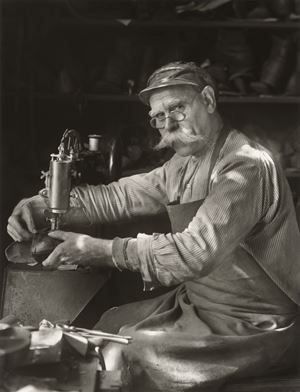 Schuhmachermeister (Master Shoemaker) by August Sander contemporary artwork