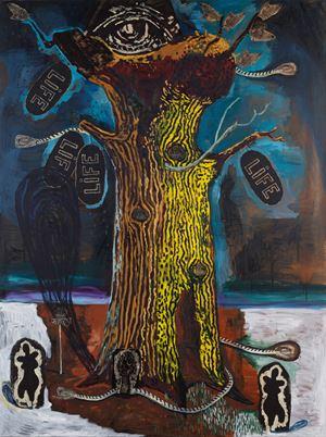Tree VI by Damien Deroubaix contemporary artwork painting