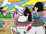 The Lady on a White Horse by Yuree Kensaku contemporary artwork 4