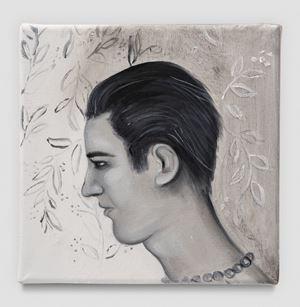 silesian boy black white grey by Katja Seib contemporary artwork