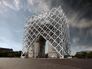 Arc de Triomphe: World Institute for the Abolition of War by Krzysztof Wodiczko contemporary artwork