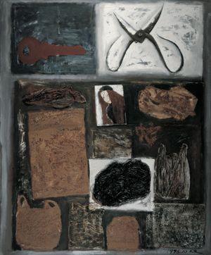 Scissors and Plastic Bags by Mao Xuhui contemporary artwork