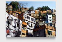 28 Millimètres, Women are Heroes, Action dans la Favela Morro da Providência, Maria de Fatima, day view, Rio de Janeiro, Brésil, 2008 by JR contemporary artwork photography