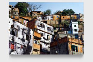 28 Millimètres, Women are Heroes, Action dans la Favela Morro da Providência, Maria de Fatima, day view, Rio de Janeiro, Brésil, 2008 by JR contemporary artwork