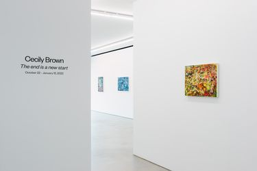 Exhibition view: Cecily Brown,The end is a new start, Blum & Poe, Tokyo (22 October–15 January 2022).© Cecily Brown. Courtesy the artist, Blum & Poe, Los Angeles/New York/Tokyo. Photo: Katsuhiro Saiki.