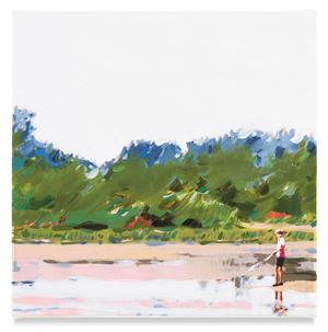 Boy Fishing by Isca Greenfield-Sanders contemporary artwork