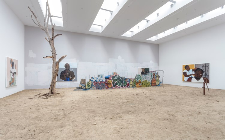 Henry Taylor, Exhibition view, 2016. Courtesy of Blum & Poe, Los Angeles.