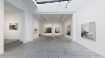 Contemporary art exhibition, Philippe Cognée, Eye of the Storm at Templon, Brussels, Belgium
