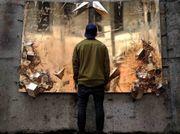 Polish artist Igor Dobrowolski's first and second metal artworks
