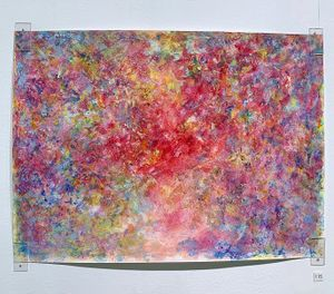 Red Light by Rie Ono contemporary artwork painting, works on paper