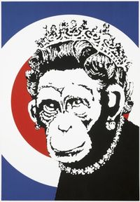 Monkey Queen by Banksy contemporary artwork print