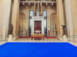 Yves Klein artworks electrify Blenheim Palace's baroque interiors