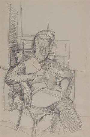 Bruno lisant by Alberto Giacometti contemporary artwork
