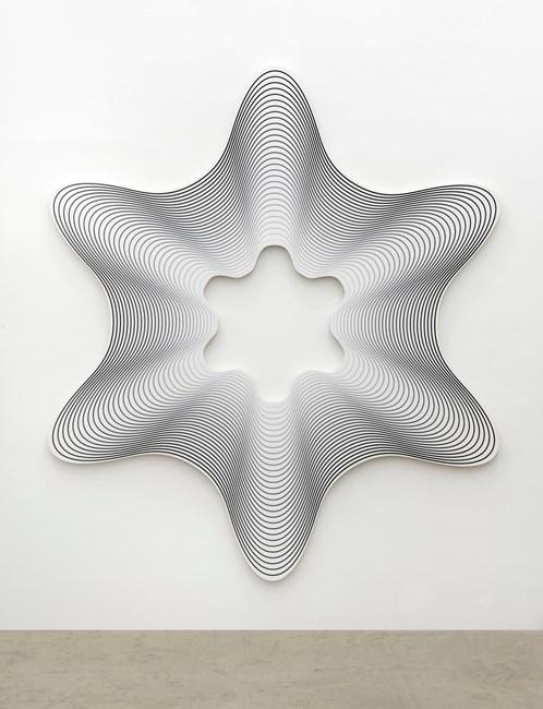 Delay Exa # 3 (Black to White) by Philippe Decrauzat contemporary artwork