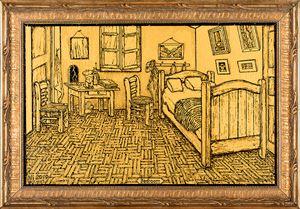 Bedroom (Homage to Van Gogh) 卧室(向梵高致敬) by NI Youyu contemporary artwork