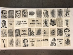 "Drawing for Soft Dictionary (""Earning Its Keep"") by William Kentridge contemporary artwork"