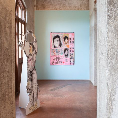 Exhibition view: Hardeep Pandhal & Jagdeep Raina, You migrate, we migrate, you displace, we displace, Jhaveri Contemporary, Mumbai (2 September–30 October 2021). Courtesy Jhaveri Contemporary.