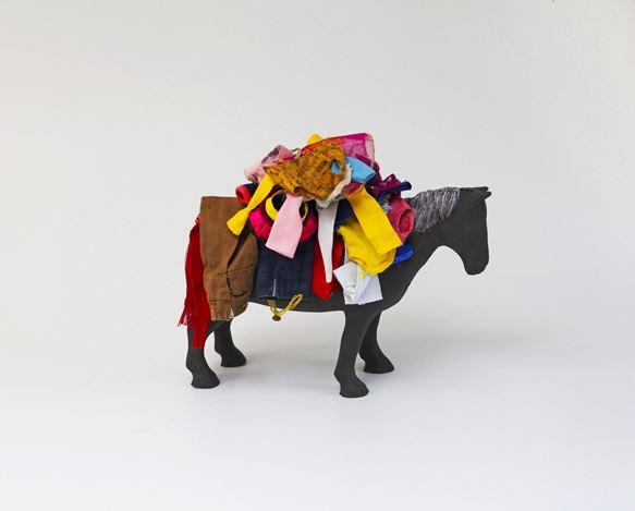 Karen Densham, Fashion Victim(2020). Archival inkjet print on Hahnemühle cotton rag. 50 x 40 cm. © Karen Densham. Courtesy Richard Saltoun Gallery, London.