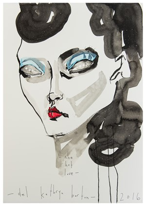 She hot love by Del Kathryn Barton contemporary artwork
