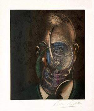 Portrait de Michel Leiris by Francis Bacon contemporary artwork