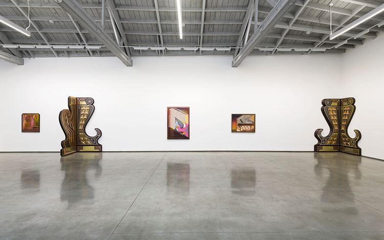 Exhibition view: Zach Harris, Studies for 20/20, David Kordansky Gallery, Los Angeles (11 May—15 June 2019). Courtesy David Kordansky Gallery, Los Angeles. Photo: Jeff McLane.