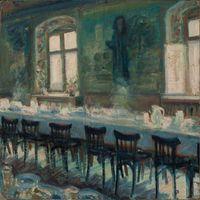 Banquet by Ioana Batranu contemporary artwork painting
