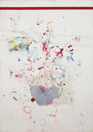 Senza titolo (Scimmie) by Alighiero Boetti contemporary artwork