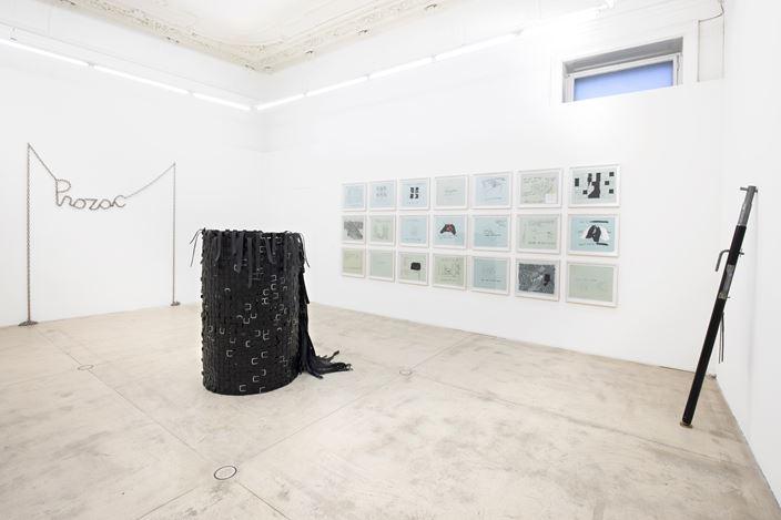 Exhibition view:Monica Bonvicini, presentation on the occasion of the award ceremony for the Oskar-Kokoschkaprize 2020,Galerie Krinzinger, Vienna (21 February–27 March 2020). CourtesyGalerie Krinzinger.