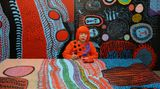Contemporary art exhibition, Yayoi Kusama, Infinity Nets at David Zwirner, 69th Street, New York, USA