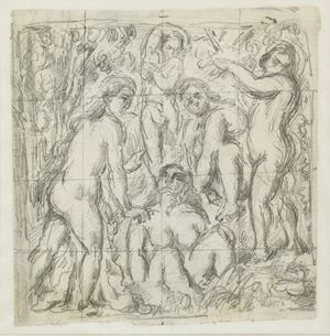 Five Bathers by Paul Cezanne contemporary artwork
