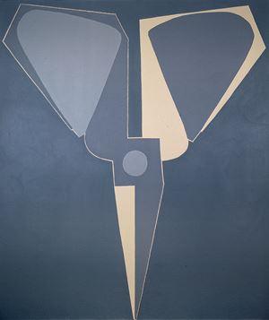 Outline, Black-grey Scissors, Upside-down by Mao Xuhui contemporary artwork