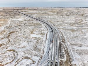 Coal Train, Near Gillette, Wyoming, USA by Edward Burtynsky contemporary artwork