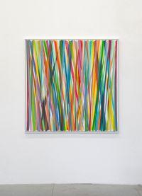 Vertikales Zig-Zag No. 10 by Beat Zoderer contemporary artwork painting