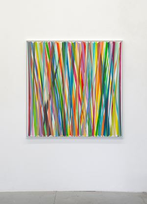 Vertikales Zig-Zag No. 10 by Beat Zoderer contemporary artwork