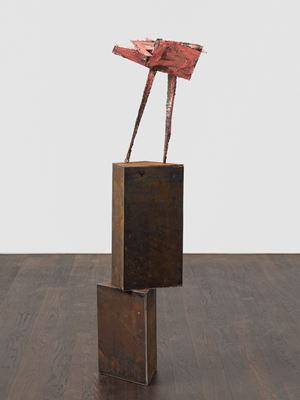 untitled: foldedpointer; 2020 lockdown 10 by Phyllida Barlow contemporary artwork