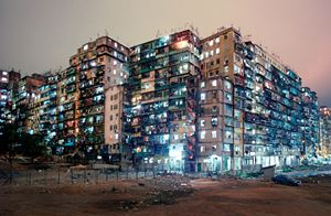 'Kowloon Walled City Night View from SW Corner', Hong Kong by Greg Girard contemporary artwork
