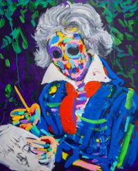 Beethoven's Skull by Bradley Theodore contemporary artwork painting, works on paper